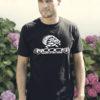 T-shirt noir à col rond Nooch en coton sérigraphié